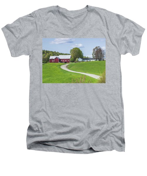 Spring Farm Men's V-Neck T-Shirt by Tim Kirchoff
