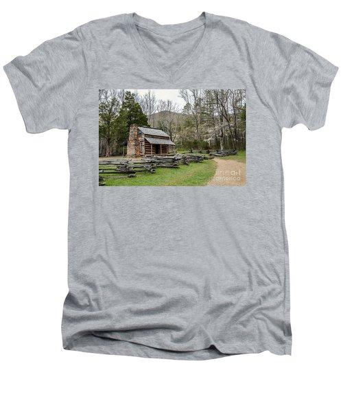 Spring For The Settlers Men's V-Neck T-Shirt by Debbie Green