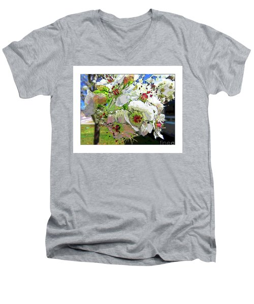 Spring Has Sprung Men's V-Neck T-Shirt by Deborah Nakano