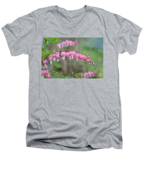 Spring Hearts Men's V-Neck T-Shirt by Janet Rockburn