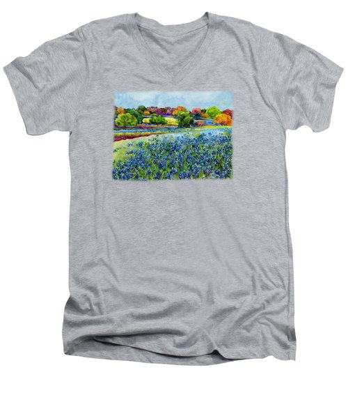 Spring Impressions Men's V-Neck T-Shirt by Hailey E Herrera
