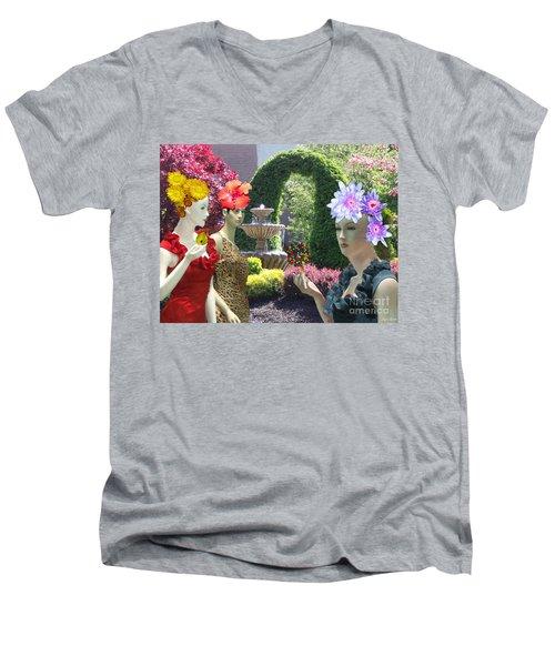 Spring In Bloom Men's V-Neck T-Shirt by Lyric Lucas