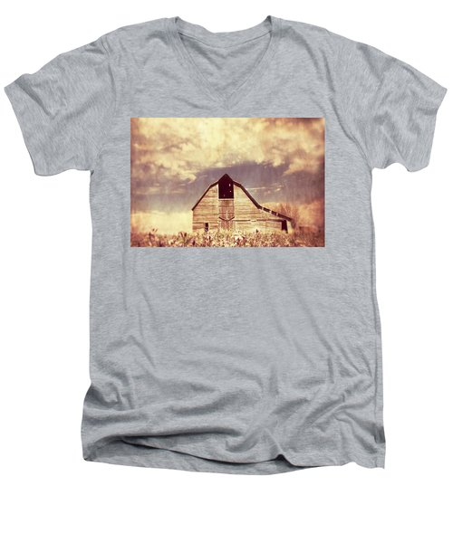 Men's V-Neck T-Shirt featuring the photograph Spring In Kansas  by Julie Hamilton