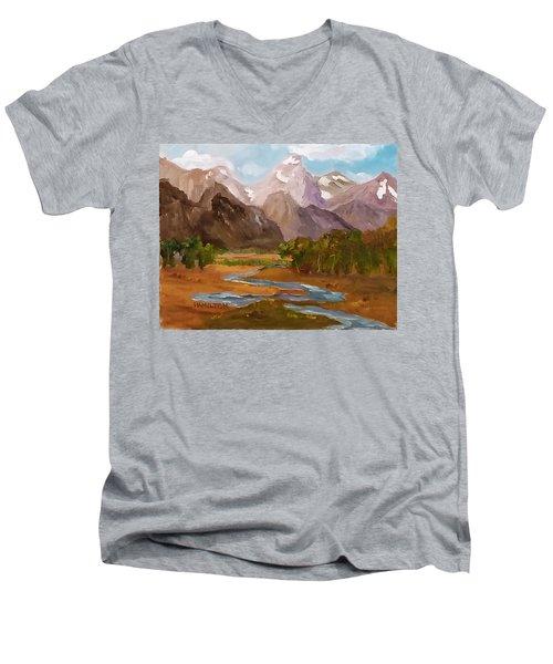 Spring In The Tetons Men's V-Neck T-Shirt