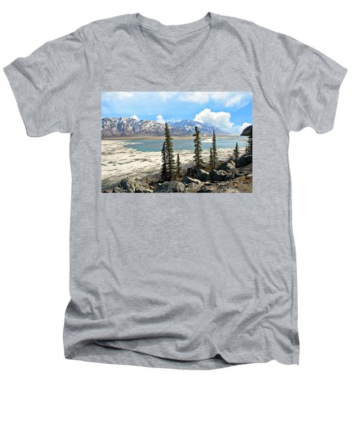 Spring In The Wrangell Mountains Men's V-Neck T-Shirt