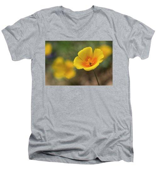 Men's V-Neck T-Shirt featuring the photograph Spring Is Beckoning  by Saija Lehtonen