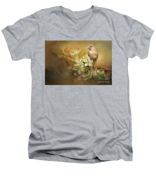 Men's V-Neck T-Shirt featuring the photograph Spring Is In The Air by Linda Blair