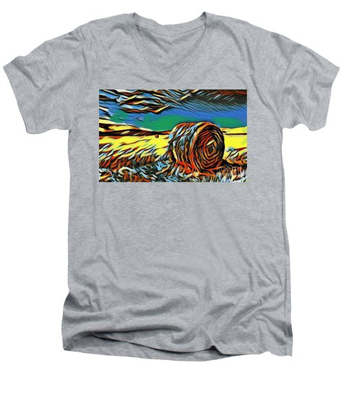 Spring Landscape Men's V-Neck T-Shirt