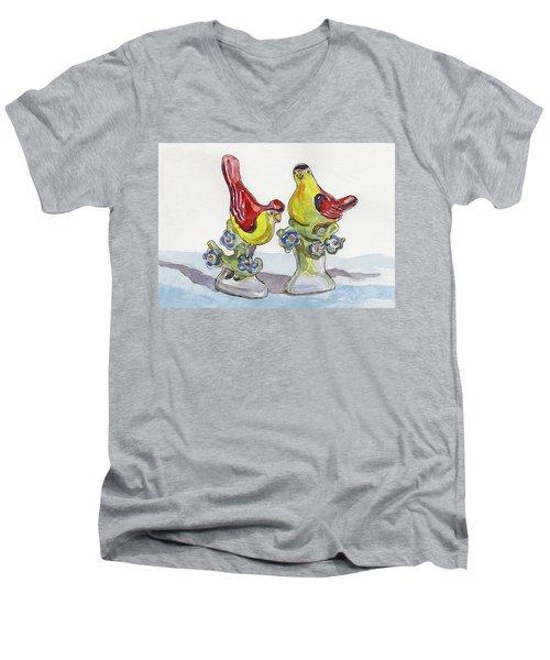 Spring Lovebirds Men's V-Neck T-Shirt