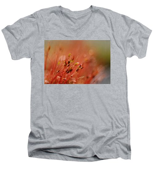 Men's V-Neck T-Shirt featuring the photograph Spring Macro3 by Jeff Burgess