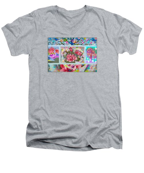 Spring Medley Men's V-Neck T-Shirt