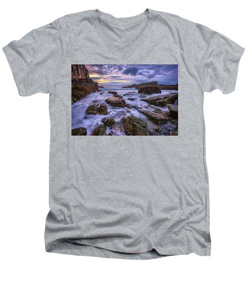 Spring Morn At Bald Head Cliff Men's V-Neck T-Shirt by Rick Berk