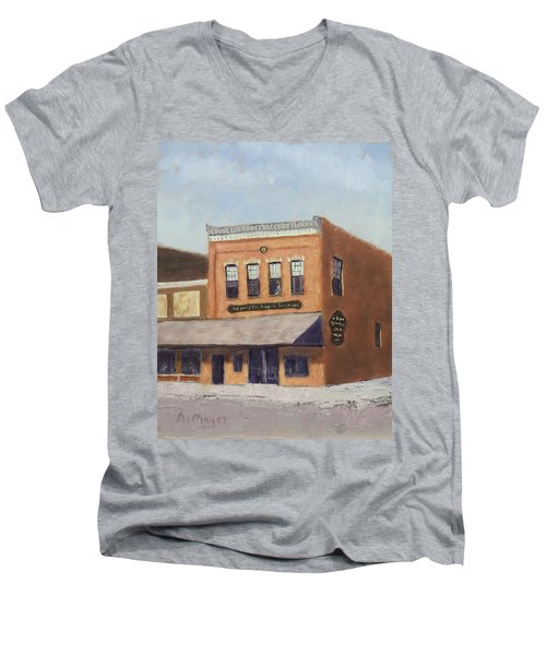Spring Morning Downtown Men's V-Neck T-Shirt
