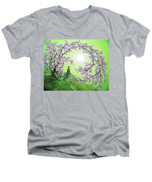 Spring Morning Meditation Men's V-Neck T-Shirt