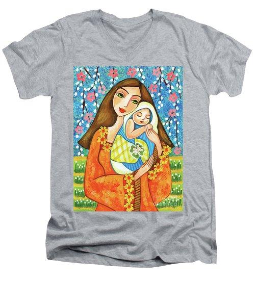 Spring Mother Men's V-Neck T-Shirt