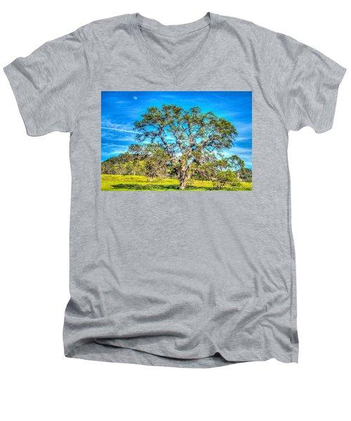 Spring Oak Moon Rise Men's V-Neck T-Shirt