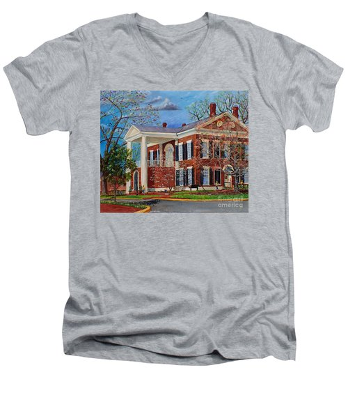 Spring Planting At The Dahlonega Gold Museum Men's V-Neck T-Shirt