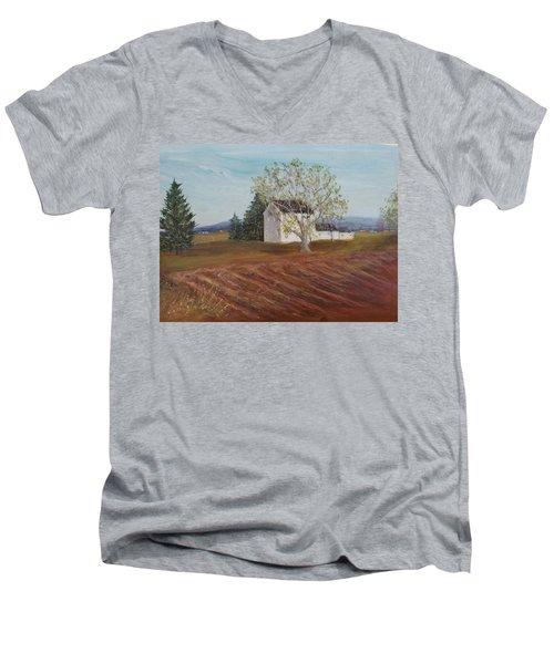Spring Plowing Men's V-Neck T-Shirt