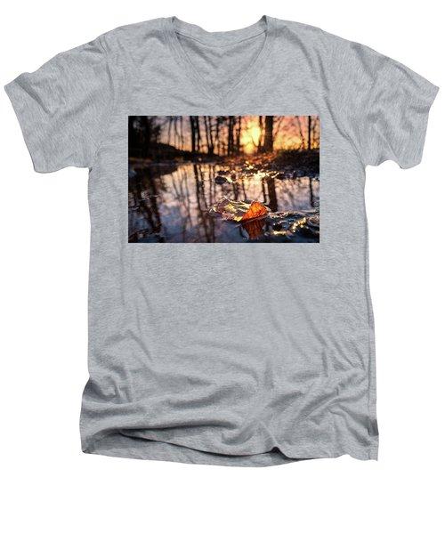 Spring Puddles Men's V-Neck T-Shirt by Craig Szymanski