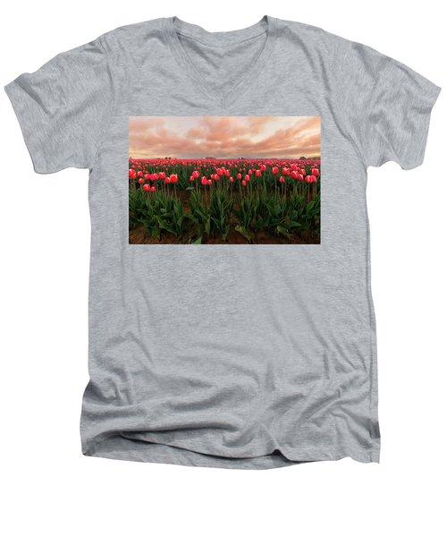 Spring Rainbow Men's V-Neck T-Shirt by Ryan Manuel