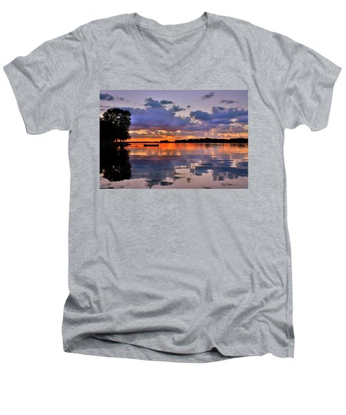 Spring Reflections Men's V-Neck T-Shirt
