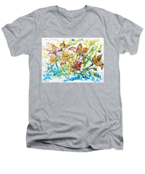 Spring Rhapsody Men's V-Neck T-Shirt