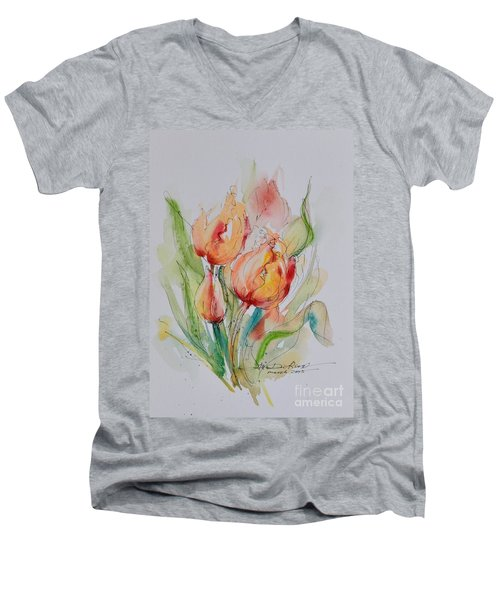 Spring Smiles Men's V-Neck T-Shirt