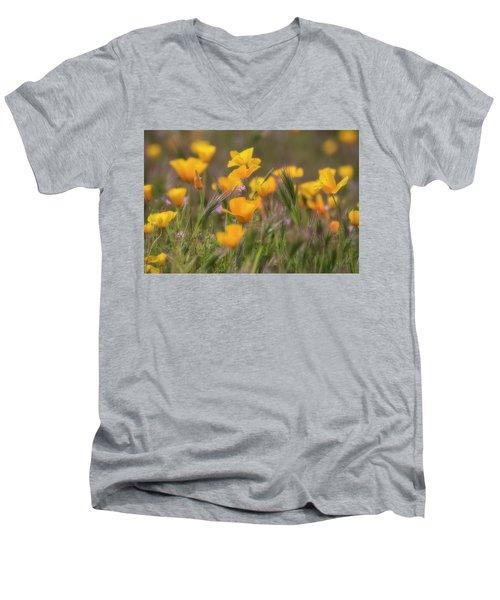 Men's V-Neck T-Shirt featuring the photograph Spring Softly Calling  by Saija Lehtonen