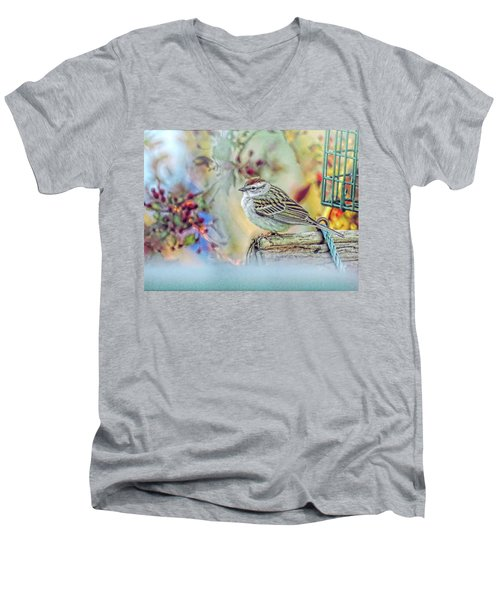 Spring Sparrow Men's V-Neck T-Shirt