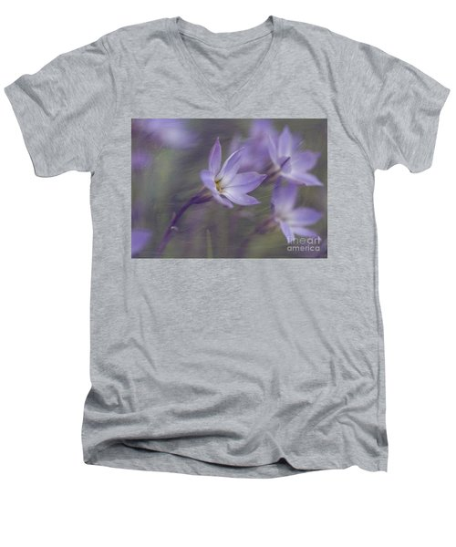 Spring Starflower Men's V-Neck T-Shirt by Eva Lechner