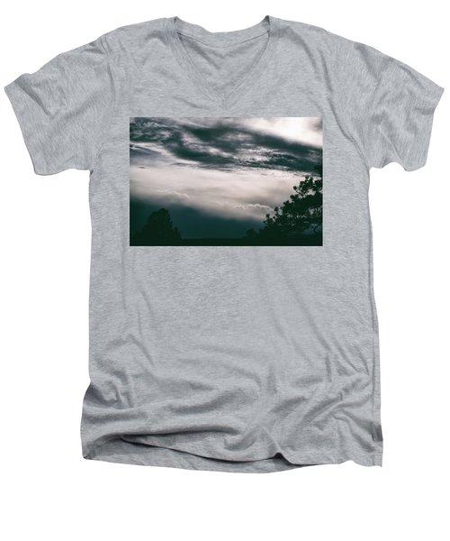 Spring Storm Cloudscape Men's V-Neck T-Shirt