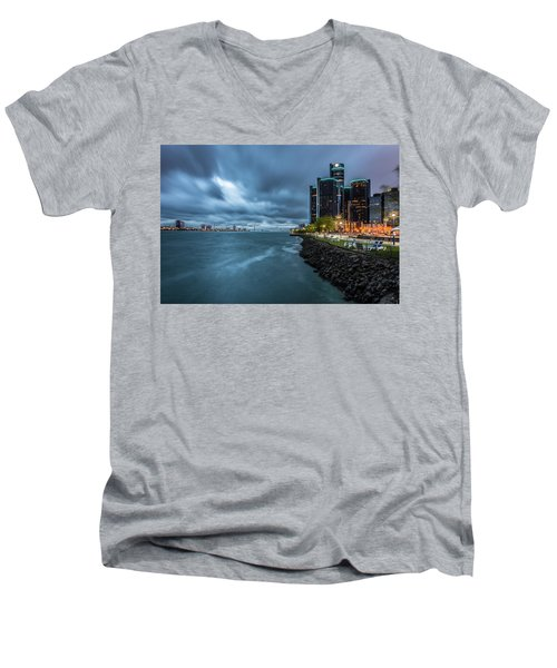 Storm Season In Detroit  Men's V-Neck T-Shirt