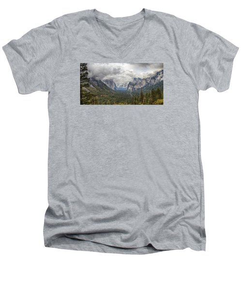 Men's V-Neck T-Shirt featuring the photograph Spring Storm Yosemite by Harold Rau