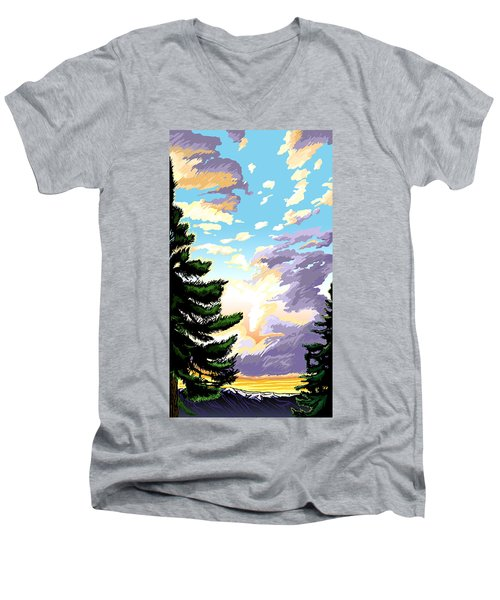 Spring Sunrise 01 Men's V-Neck T-Shirt