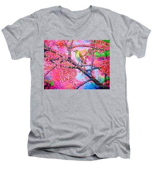 Spring Time Men's V-Neck T-Shirt by Viktor Lazarev