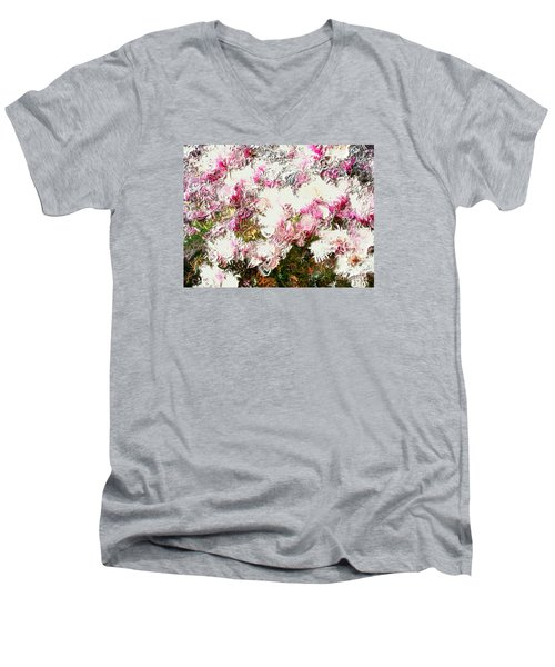 Spring Tulip Tree Men's V-Neck T-Shirt