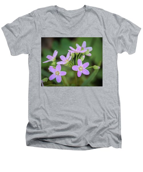 Men's V-Neck T-Shirt featuring the photograph Spring Vibe by Bill Pevlor