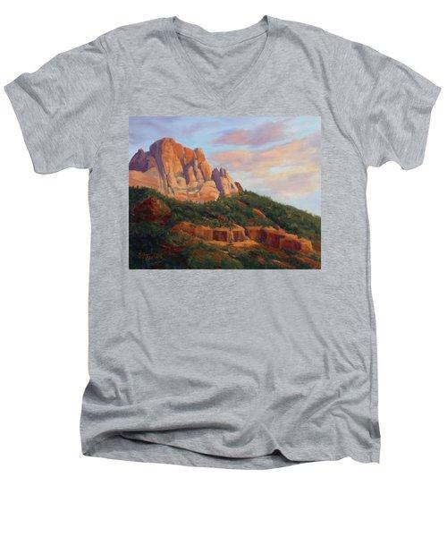 Springdale Sunset On Johnson Mountain Men's V-Neck T-Shirt