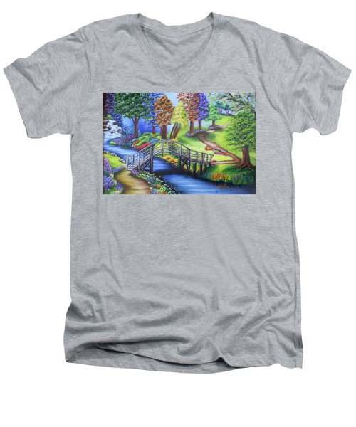 Springtime In The Park Men's V-Neck T-Shirt