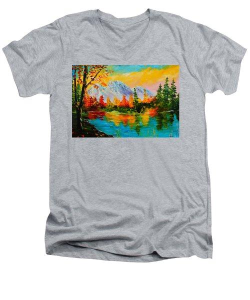 Springtime Reflections Men's V-Neck T-Shirt