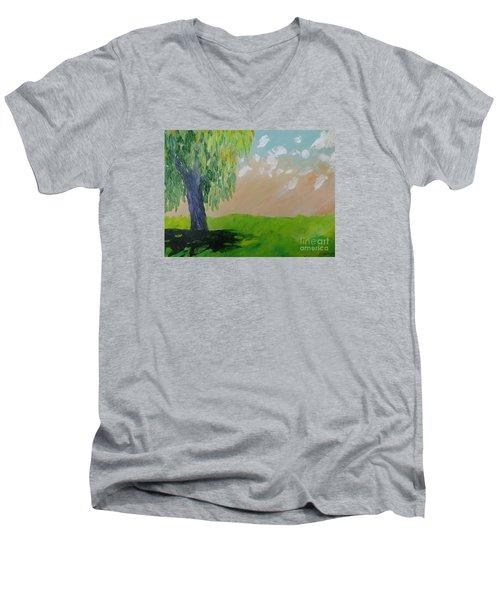Springtime Willow Men's V-Neck T-Shirt