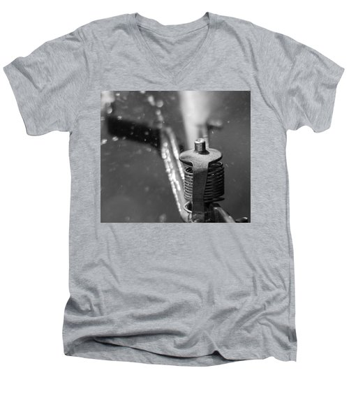 Men's V-Neck T-Shirt featuring the photograph Sprinkler by Wade Brooks