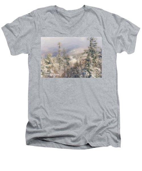 Spruce Peak Summit At Sunday River Men's V-Neck T-Shirt