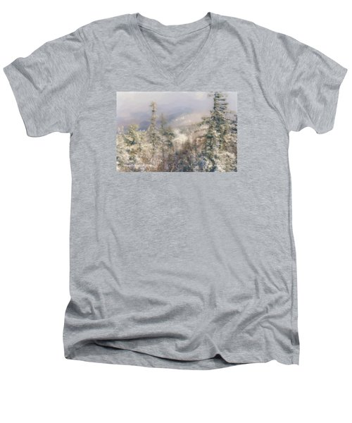 Spruce Peak Summit At Sunday River Men's V-Neck T-Shirt
