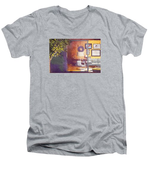 Spying Your Room Men's V-Neck T-Shirt by Andrea Barbieri