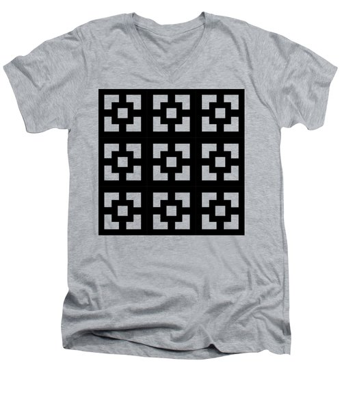 Squares Multiview Men's V-Neck T-Shirt by Chuck Staley