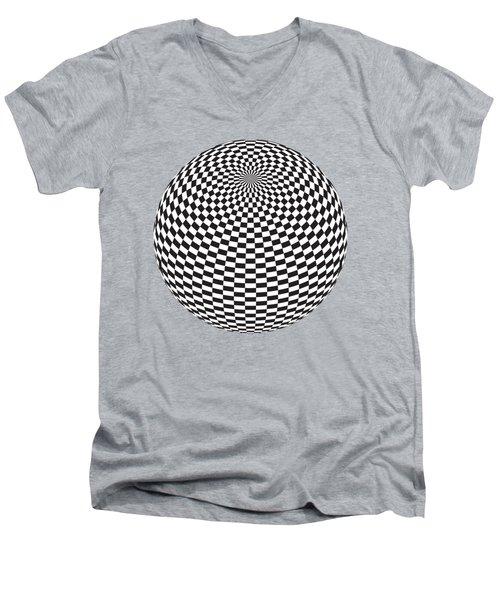 Squares On The Ball Men's V-Neck T-Shirt