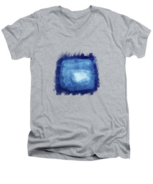 Squaring The Moon Men's V-Neck T-Shirt by AugenWerk Susann Serfezi