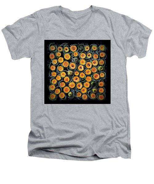 Squash And Zucchini Patters Men's V-Neck T-Shirt