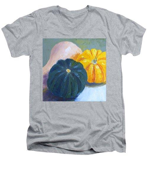 Squash Trio Men's V-Neck T-Shirt by Susan Woodward